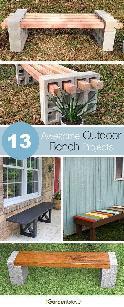 13 Awesome Outdoor Bench Projects, Ideas Tutorials! appsforbuilders.com/