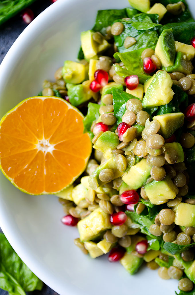 Avocado Lentil Salad is packed with vitamins, so perfect for chilly fall days. This vegan and gluten free salad is a real immune