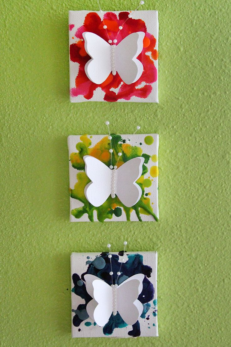 Mini Butterfly Crayon Canvases – Crafts Unleashed