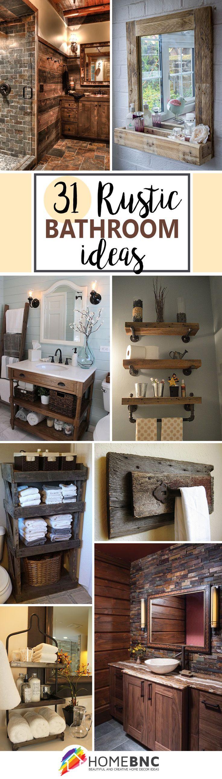 cool Rustic Bathroom Decorations… by http://www.dana-home-decor.xyz/home-improvement/rustic-bathroom-decorations/