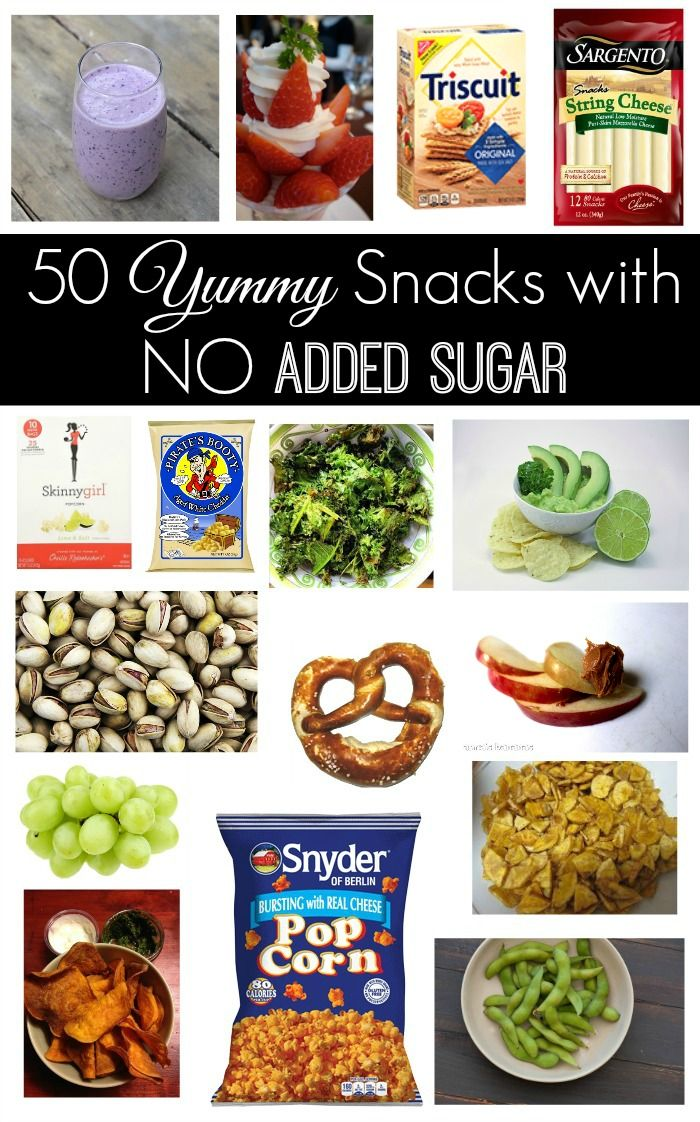 If you counted all the added sugar you or your kids eat in a day, you would be ASTOUNDED. Its everywhere! Here are 50 yummy snacks