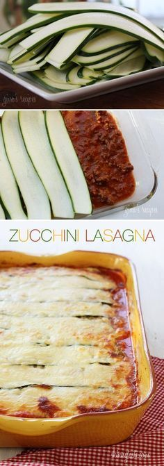 Gluten Free Low Carb Zucchini Lasagna – probably one of the few easy recipes i may make