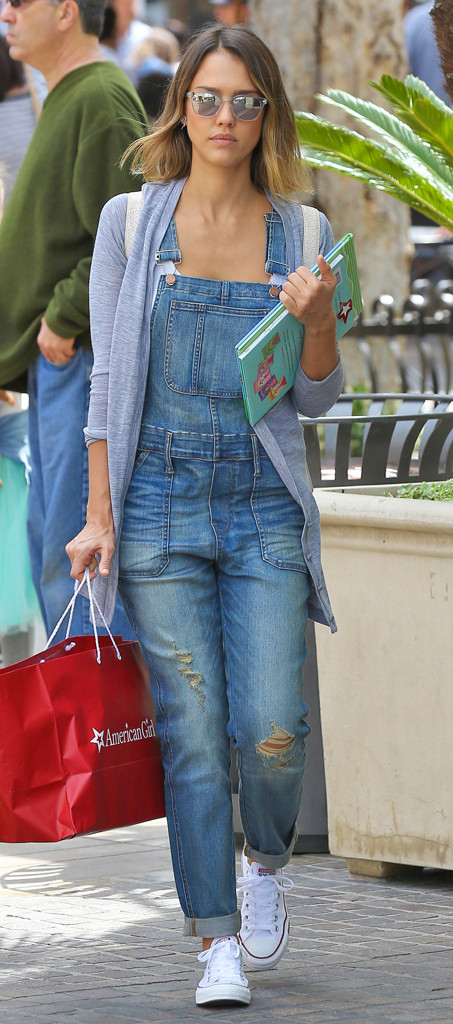 Overalls Overhaul from Jessica Albas Street Style