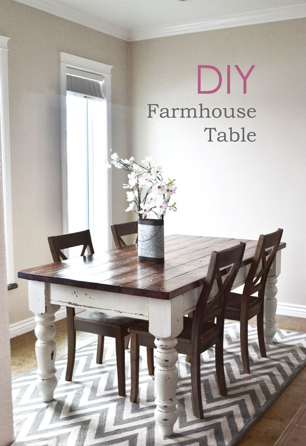 DIY farmhouse kitchen table I Heart Nap Time | I Heart Nap Time – Easy recipes, DIY crafts, Homemaking