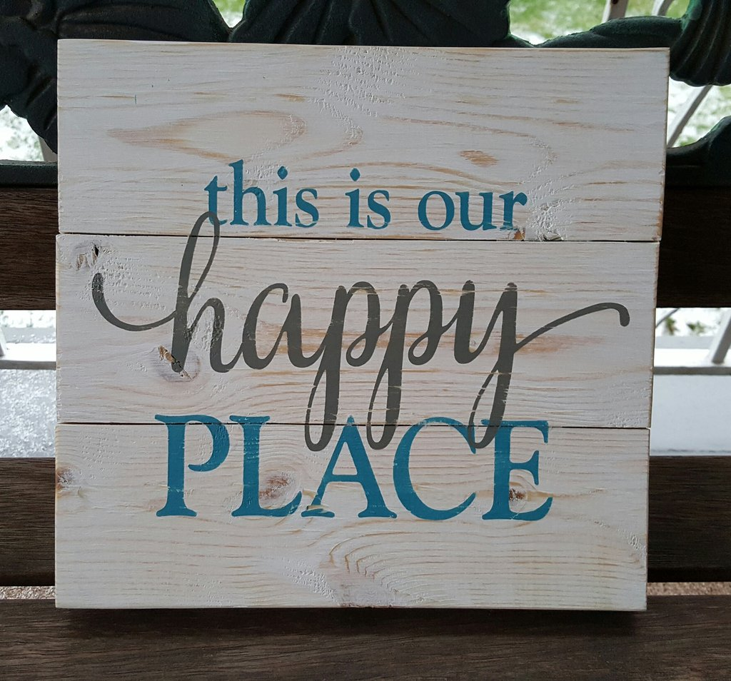 This Is Our Happy Place pallet sign – Kelly Belly Boo-tique