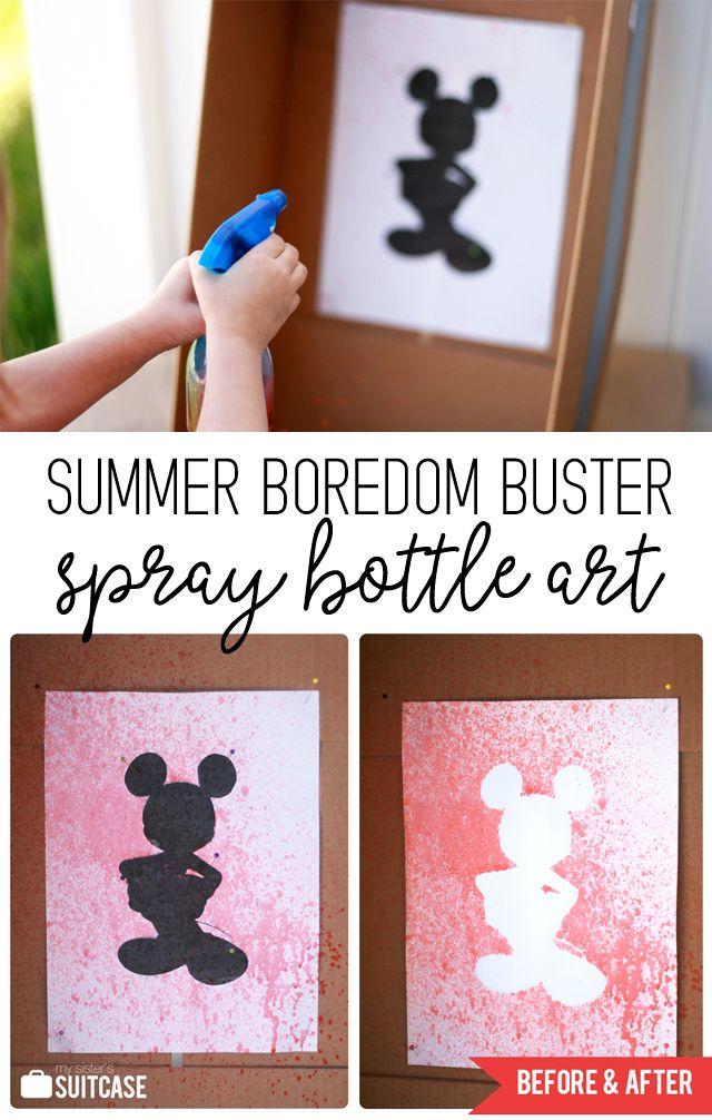 Easy Summer Activity – Spray Bottle Silhouette Art for Kids!