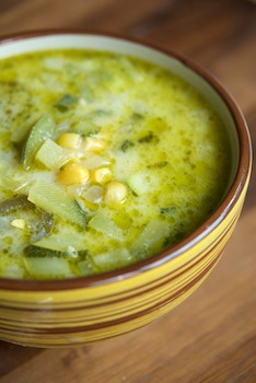 Mexican Zucchini Soup ~  Great served with jalapeo cornbread.