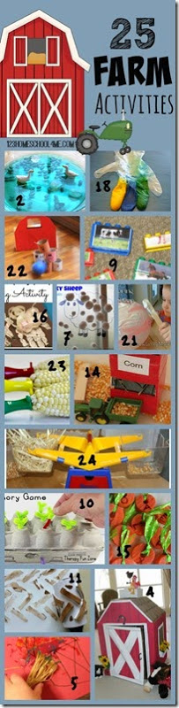 Get ready for spring or fall with these super creative and fun farm activities for kids. These are great for Toddler, Preschool,