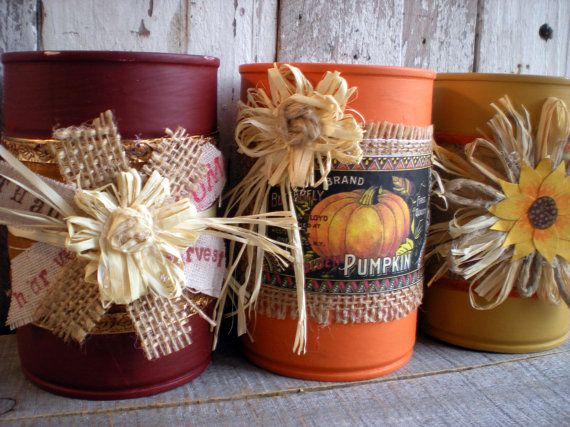 Halloween and Fall Tin Can Upcycles for Kids and Adults