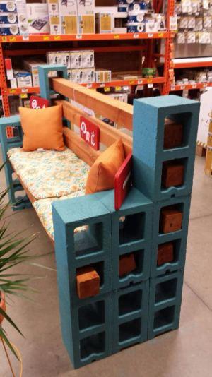 10 Amazing Cinder Block Benches