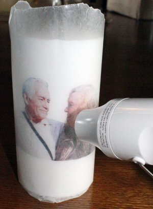 DIY Candle Image Transfer.