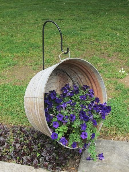 Galvanized Tub Planter and Front Porch Ideas on Frugal Coupon Living – Inspire Your Welcome This Spring! Creative Ideas for Your
