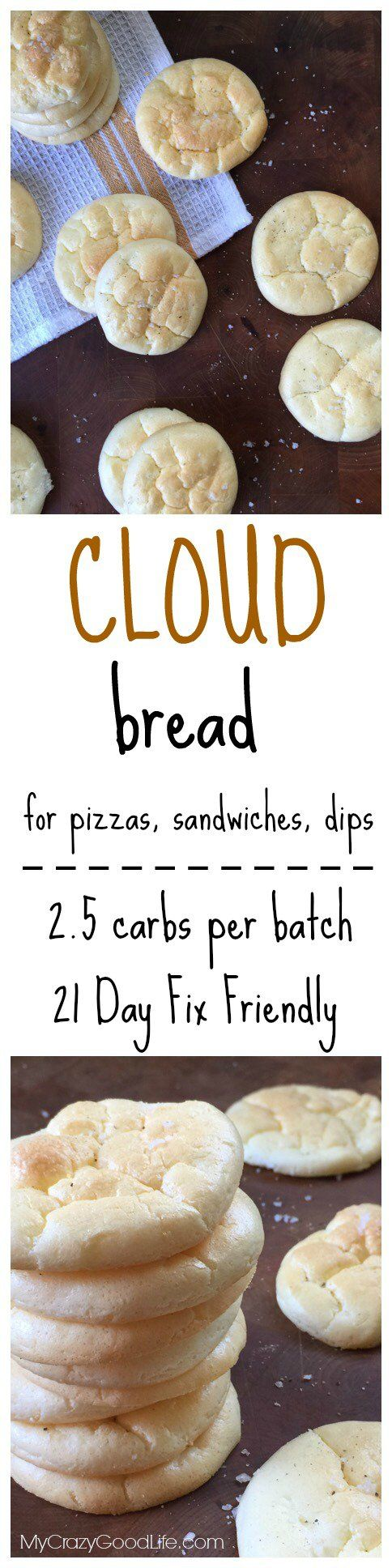 This low carb Cloud Bread has just 2.5 carbs per batchthats about 15 cracker-sized pieces. Its great for those on a low carb diet,