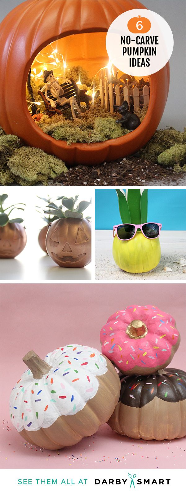 Easy No Carve Pumpkin Ideas that Make the Best Halloween Decorations