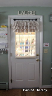 Make your own ruffled curtains from painters drop… I needed a little change in the kitchen. A little changed that included
