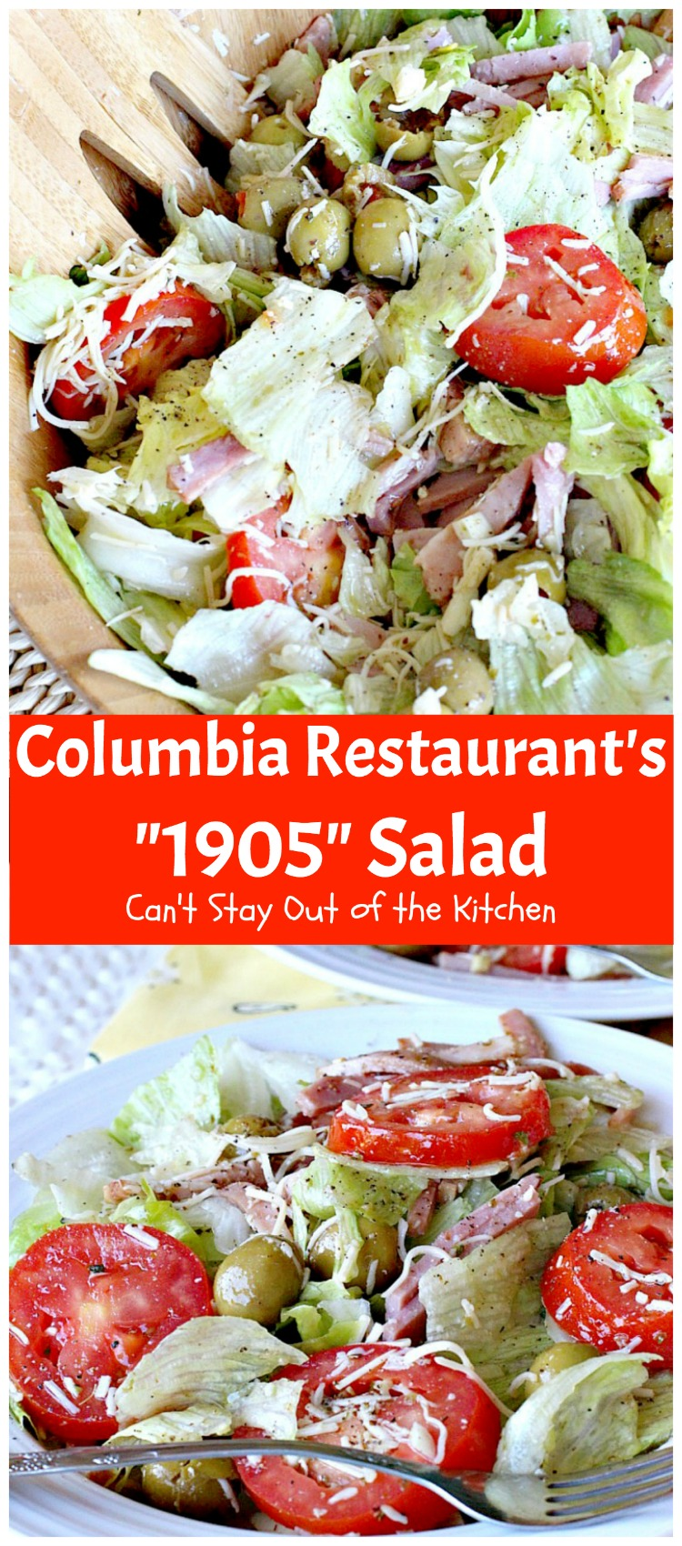 """Columbia Restaurant's """"1905"""" Salad 