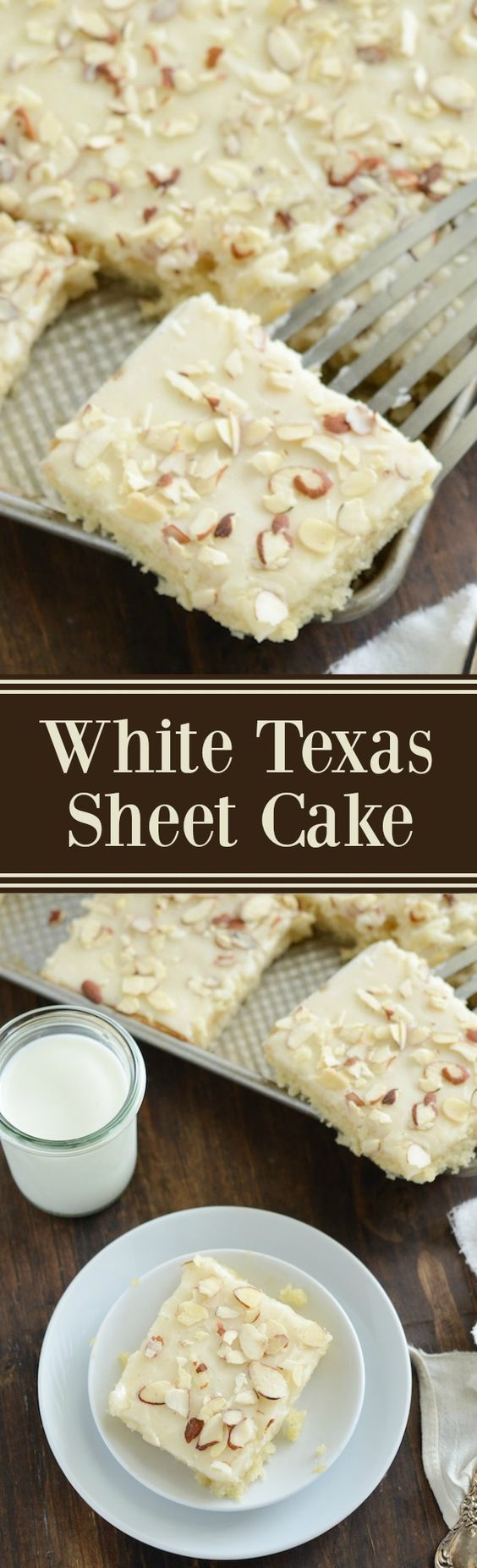 White Texas Almond Sheet Cake Dessert Recipe via The Novice Chef – This perfect buttery cake only takes 30 minutes from start to