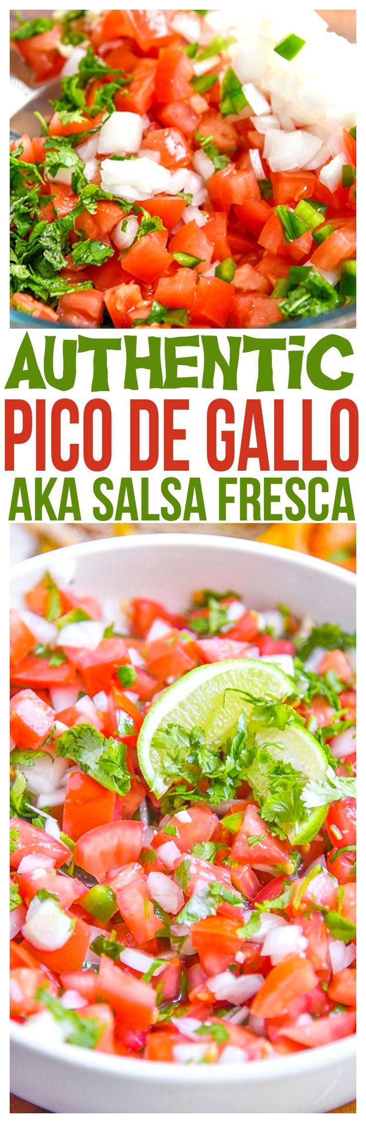 Authentic Pico de Gallo Recipe – By far the best pico de gallo recipe we've made. A fresh Salsa Fresca recipe for tacos, fajitas,