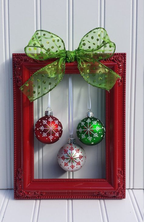 These Christmas decorations are mostly under $5 and many of theitems needed can be found at Dollar Tree, Walmart, or Thrift