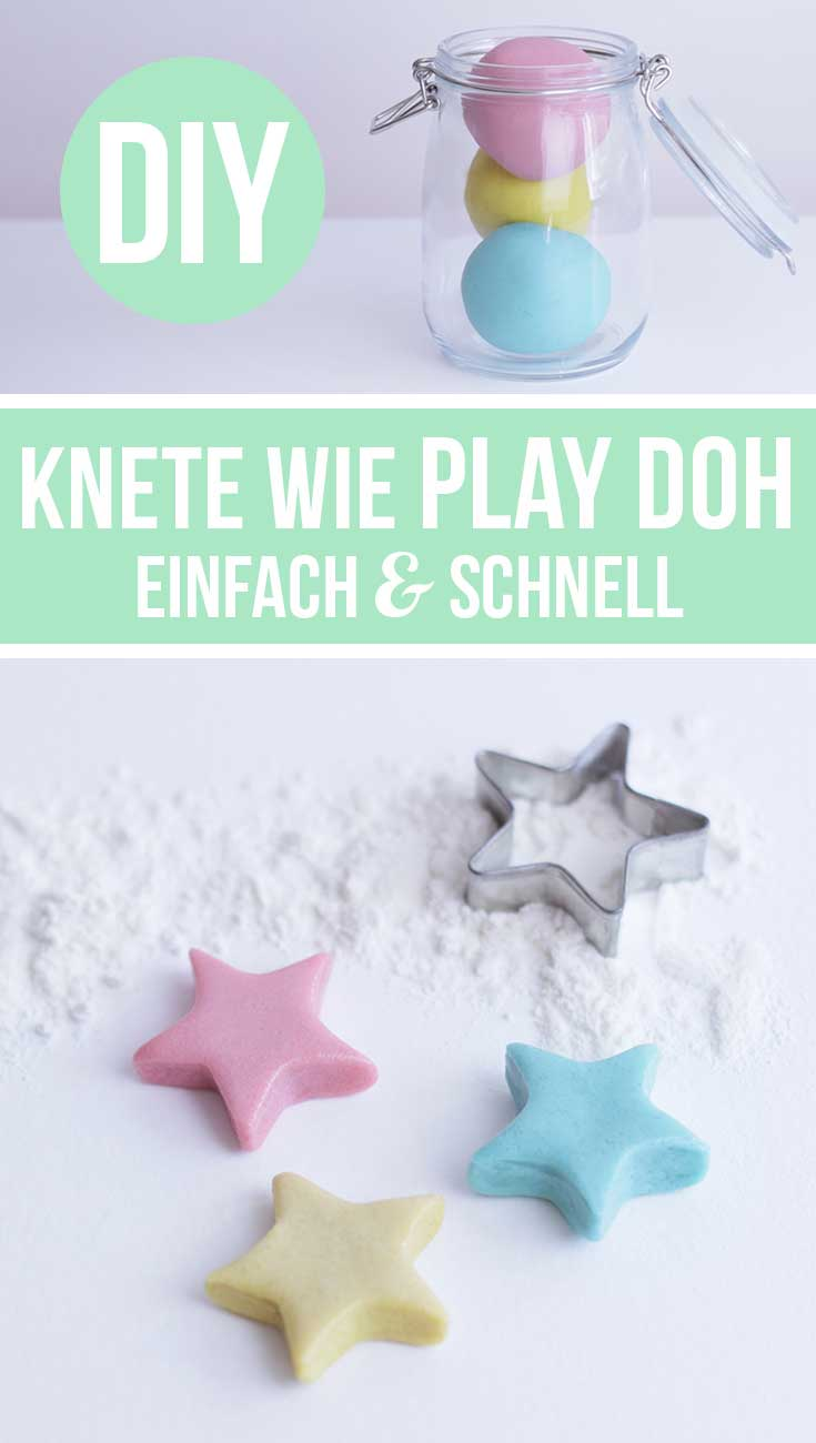Knete selber machen – Rezept wie Play Doh (ohne Alaun) Basteln mit Kindern
