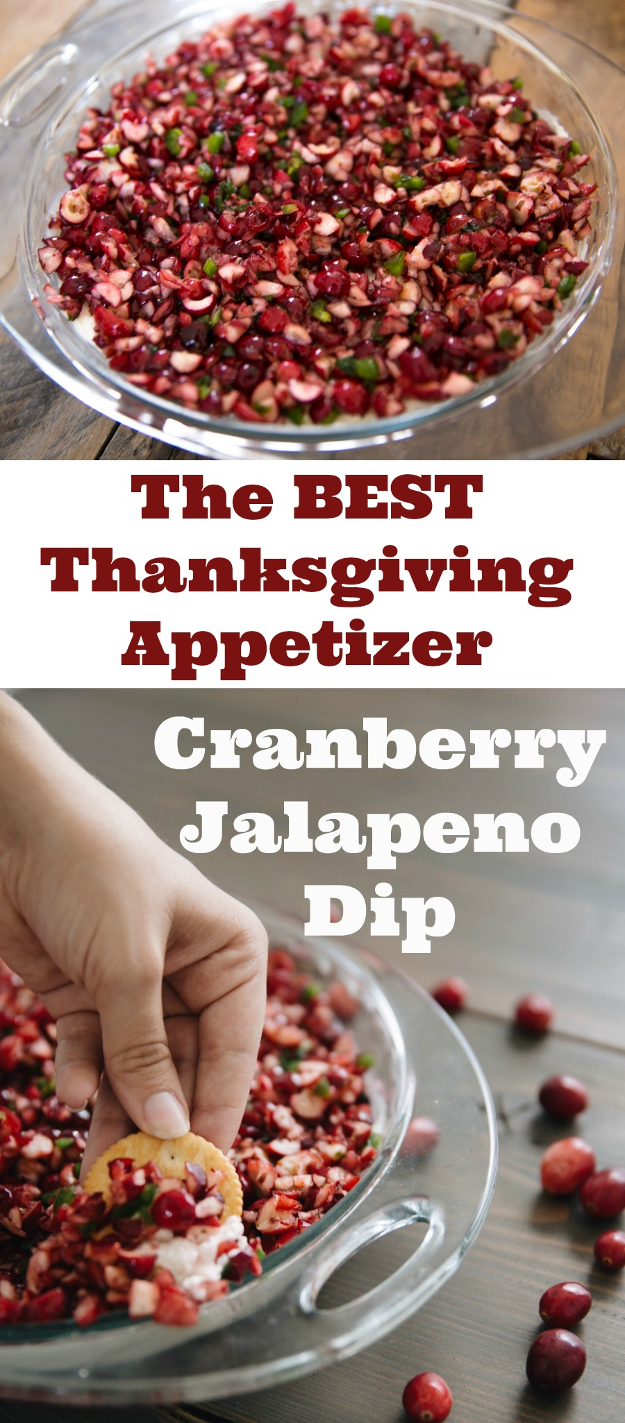 Everyone who eats this dip asks for the recipe. It's one of the best appetizers I've had in a long time – cranberry, jalapeno,