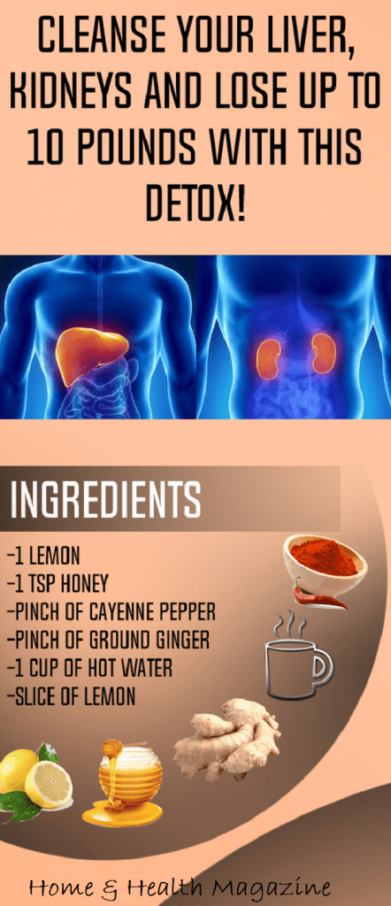 Cleanse Your Liver, Kidneys and Lose Up to 10 Pounds With This Detox!