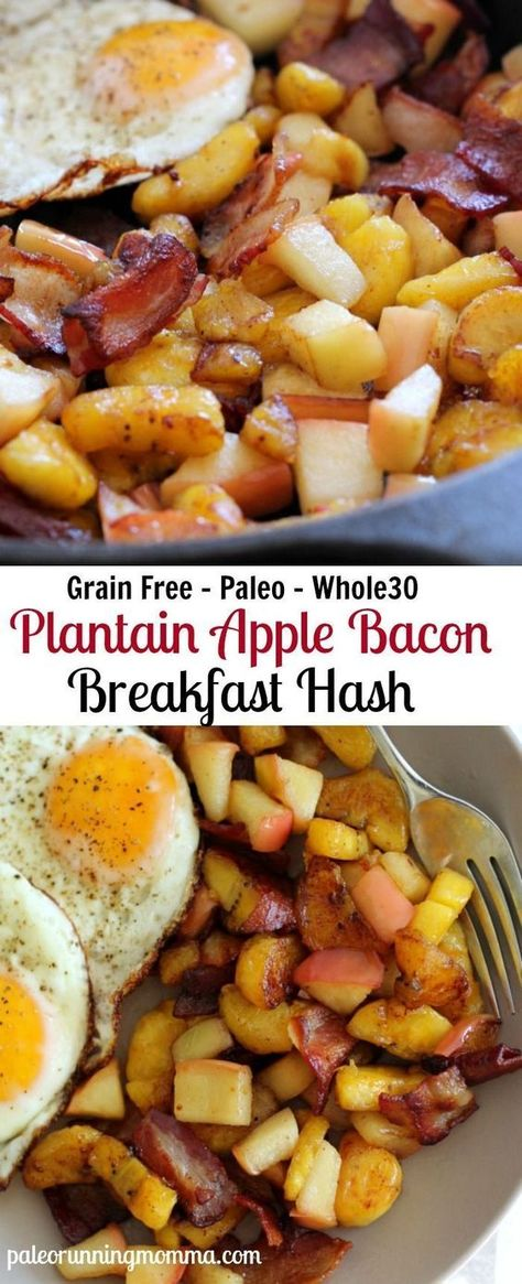 Sweet Plantain Apple Bacon Breakfast Hash – Paleo and Whole30 friendly!