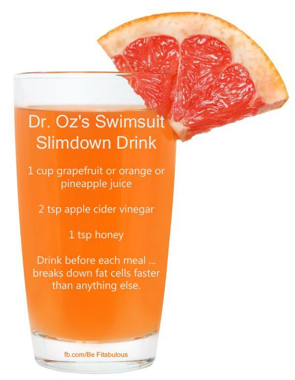 Dr. Oz/s Swimsuit Slimdown drink