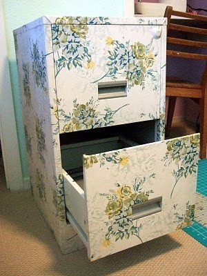 a little fabric, a little modge podge.  Worth trying I think. Must try this for my shabby chic home office