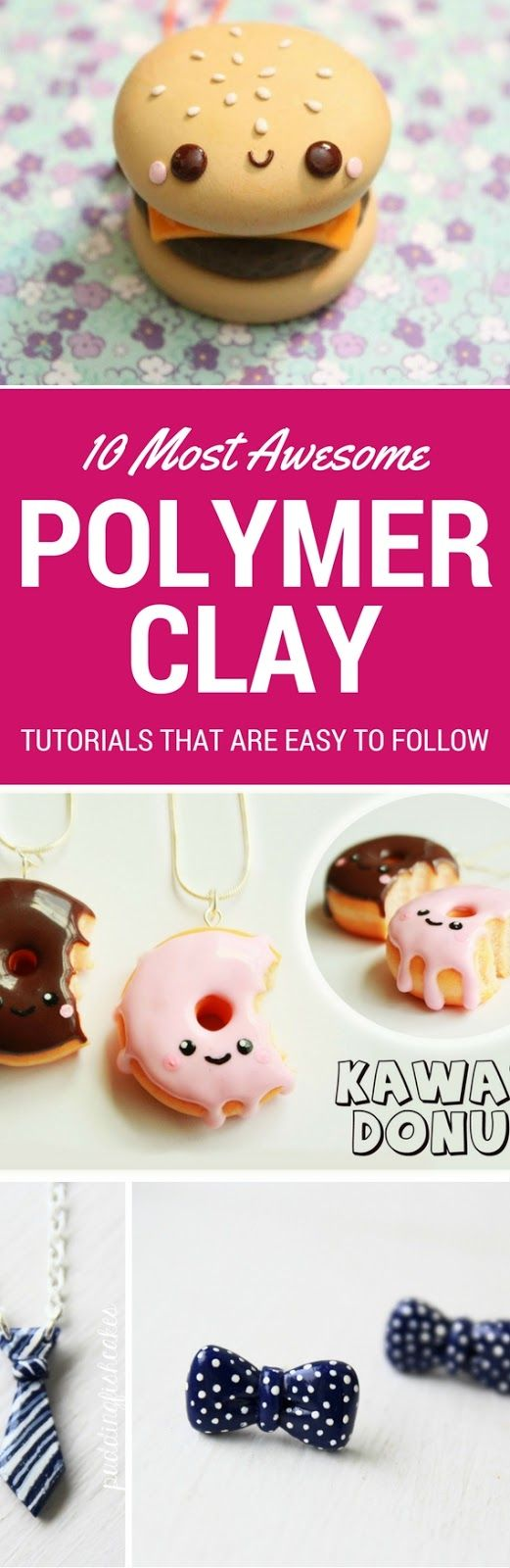 10 Polymer Clay Tutorials Step By Step Anyone Can Follow – Looking for a fun DIY Craft Project? Then you totally have to try