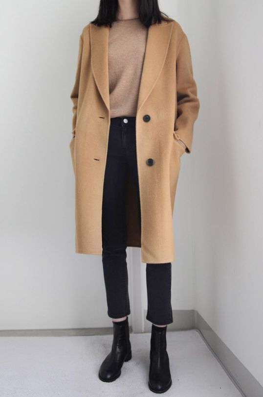 For the last of the winter days – booties, jeans, camel coat, sweater.
