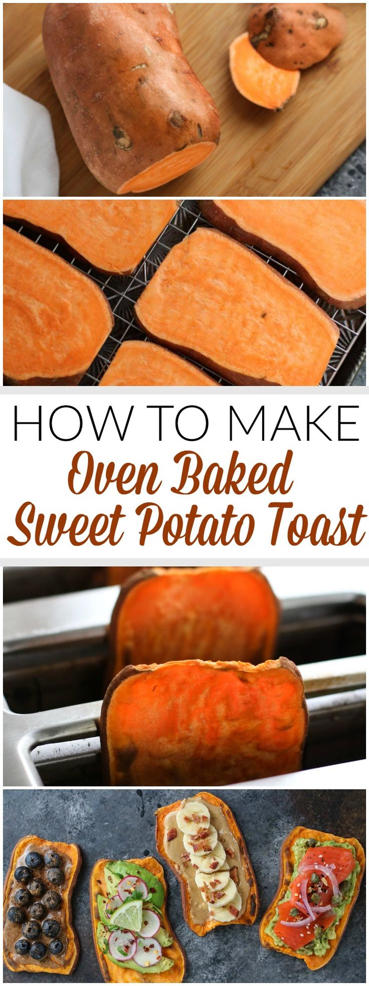 A step-by-step photo tutorial showing how to make oven baked Sweet Potato Toast. A big-batch method for sweet potato toast that's
