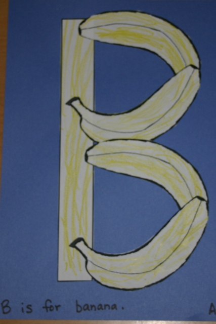 Great letter B craft you can use to make a big or little b
