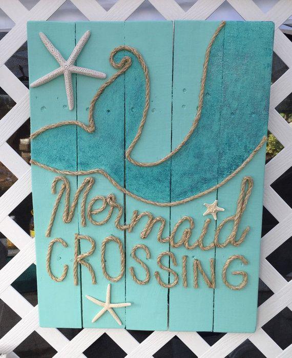 Handmade Mermaid Crossing with Rope Beach by BeachByDesignCo