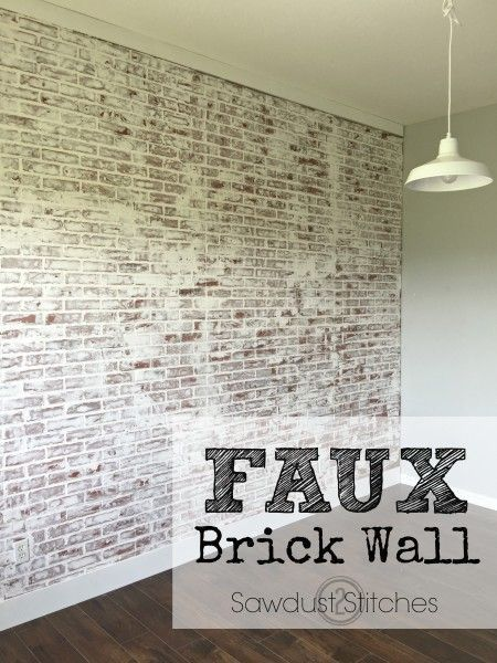 >>  How one can: Fake Brick Wall – Sawdust 2 Stitches