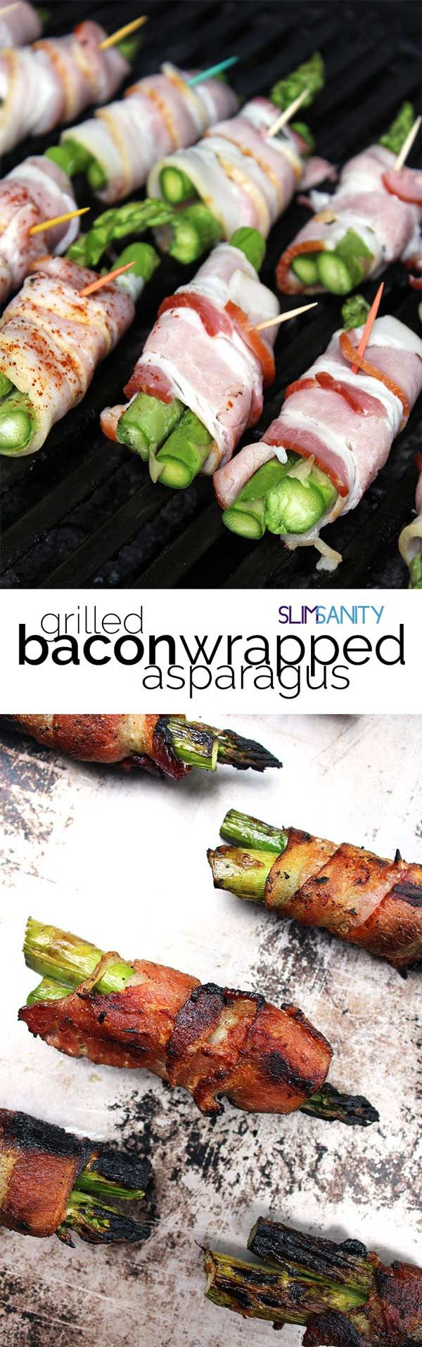 This grilled bacon wrapped asparagus recipe is the perfect Paleo appetizer for your next cookout! The best excuse to eat bacon. |