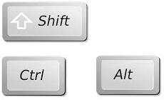 modifier key - कंप्यूटर के इनपुट डिवाइस (Input Devices)