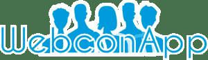 Logo-WebconApp-azul-borde-blanco