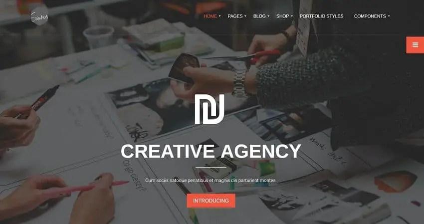 unique wordpress theme for agency