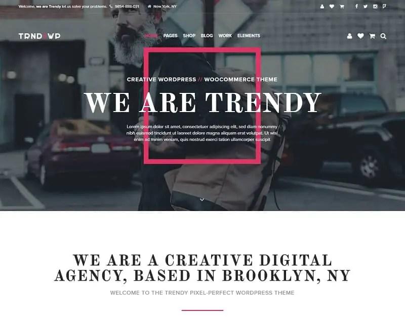 the trendy creative wordpress theme