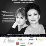 Soprana Leontina Văduva și actrița Medeea Marinescu în recital la Ateneul Român