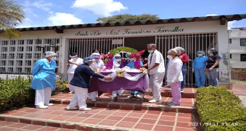 Imagen del Nazareno recorrió el hospital gracitano
