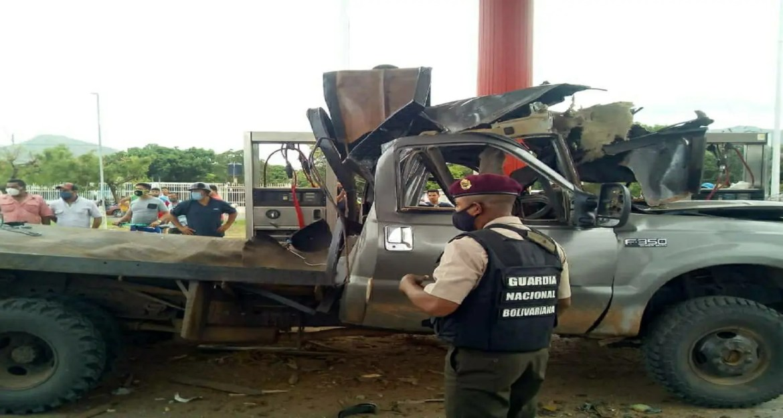 Explotó bombona de gas vehicular en estación de servicio