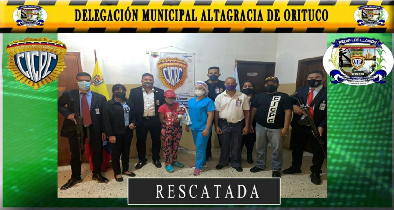 Comisión del CICPC rescató a bebé  que fue raptado del hospital