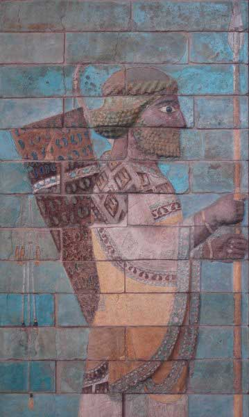 Friso de tijolos esmaltados, Palácio de Dario I (museu do Louvre, Paris)
