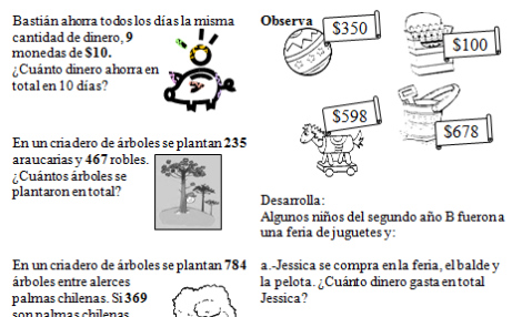 Problemas matematicas 4o primaria