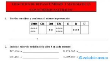 matemáticas 5 primaria