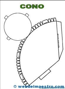 Figuras geométricas recortables: cono