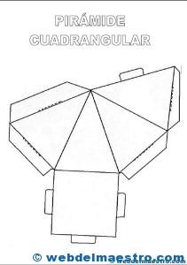 Figuras geométricas tridimensionales: pirámide cuadrangular