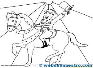 caballos para colorear: Circo